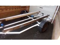 Boat trailer suitable for Rib