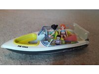 Playmobil speed boat and accessories