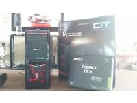 i7 Quad Core 4K Gaming PC, 8GB DDR3 RAM, Geforce GTX 1050 OC 2GB GDDR5, Gaming Case, 400 PSU, Win10