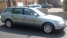VW Passat Estate, Grey metallic. Great roomy family Car. Leather seats, front ones heated.