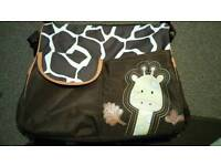Giraffe changing bag