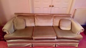 3 Seater Sofa and 2 armchairs - Good condition, well cared for.
