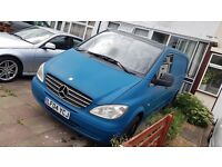 Van Mercedes Vito 115 cdi XL: Colour Blue-Mat, New Tires Year: 2004, Miles: 177.000