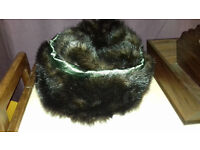 Ladies Brown Faux Fur Hat Size M/L, Made By Jack Murphy.