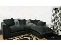 Black&Grey corner sofa**Free delivery**