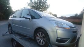 Citroen C4 grand picasso 1.6 hdi semi auto silver exclusive breaking spare parts