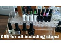 Bluesky gel polishes plus stand