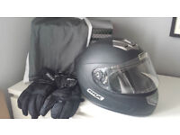Motorbike Helmet, Jacket & Gloves