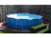 12ft Steel Frame Swimming Pool With heater pump and accessories