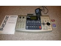 Digital 8-track, Zoom MRS-8, Built in drum machine/sequencer, pre/post effects