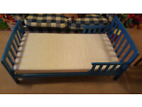 Toddler Bed in Blue Color L140 x W70cm Very Good Condition