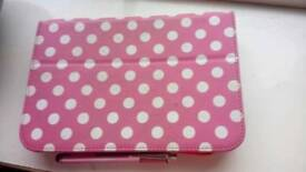 Red hudl with pink cover