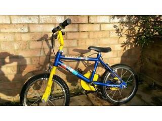 Raleigh Rocket kids bike 14' wheels (age 3-5) Blue and yellow