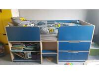 Blue cabin bed
