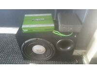 JBL subwoofer, fusion amplifier and 6 cd player all in great condition!!