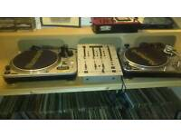 Record collection and decks mixers ect
