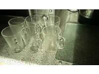 6 glass mugs