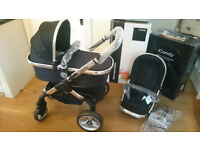 Brand New Boxed iCandy Peach 2 Black Magic Stroller/Pushchair/Pram with Carrycot