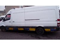 Mercedes sprinter 313 cdi lwb full years mot just had over £1000 spent on new parts got receipts