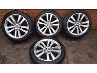 """GENUINE BMW ALLOY WHEELS 17"""" 1 2 SERIES 6866303 STYLE 655 F20 F21 F22 F23 225 45"""