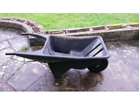 Plastic garden wheelbarrow,