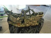 Large fish tank ornament/ ship