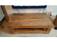 Oak Furniture Land Mango Oak Coffee Table/TV Stand