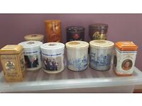 Collection of Dutch mint, chocolate, and biscuit tins