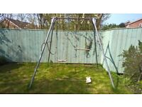 TP Giant double swing with 2 seats, rope and trapeze