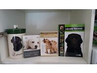Labrador books, dvd and biscuit jar