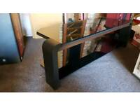 John Lewis TV Stand with Glass Top and Dark Oak Trim RRP £400