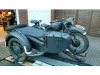Ural motorcycle and sidecar