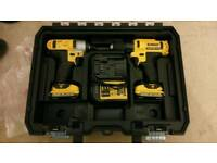 Dewalt drill and impact driver set