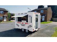 Mobile Catering van trailer, food van, burger van, street food .