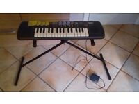 Yamaha Keyboard - Port-a Sound with Charger and Stand -Age 5+