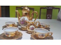 Stunning Vintage Gold Lustre Coffee Set. £20 or very near offer