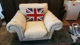 Chesterfield style armchair. Delivery available