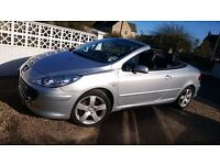 Peugeot 307 cc 2.0 Turbo Diesel with 6 speed gearbox and full leather interior
