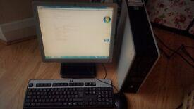 HP Desktop PC, Keybord, Mouse, Screen, Office 2010 Pro