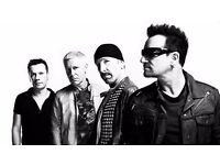 2 x U2 tickets. Twickenham. Sunday 9th July. Closest seats to stage you can buy!