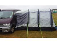 Inflatable KAMPA TRAVEL POD MIDI AIR L tent awning, ideal for campervans. Also stands independantly.