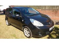 2009 59 Nissan Note Black 1.6 Manual Petrol 78,000 miles, Full Service History