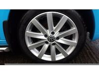 Mk 5 VW GOLF GTD ALLOY WHEELS WITH GOODYEAR F1 TYRES FIT MOST AUDI ,SKODA ,SEATS , VW CADDYS