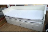 IKEA Hemnes white day bed with storage