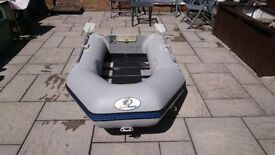 INFLATABLE DINGHY 230 WITH SOLID TRANSOM FOR OUTBOARD , DINGY TENDER RIB SIB BOAT