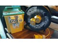 110v transformer and 50m cable reel