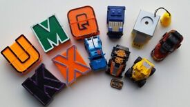 Age 3+ SET OF TOY CARS AND LETTER/ROBOT TRANSFORMERS