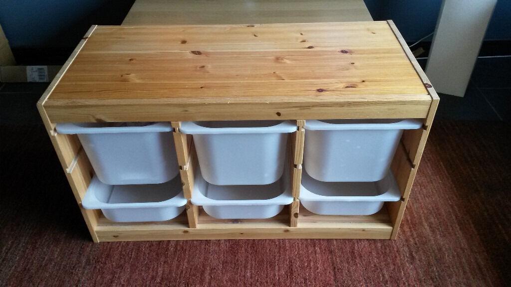 Ihram Kids For Sale Dubai: Ikea Trofast Toy Storage Unit Solid Pine