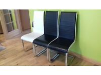 3 leather effect modern dining chairs £20 each