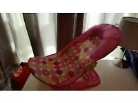 Pink baby bath seat